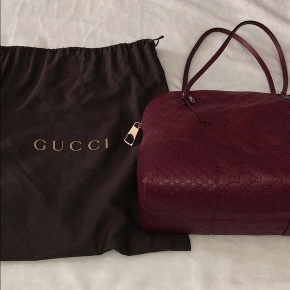 Gucci Handbags - Gucci Bree Dome Tote in Ruby Red